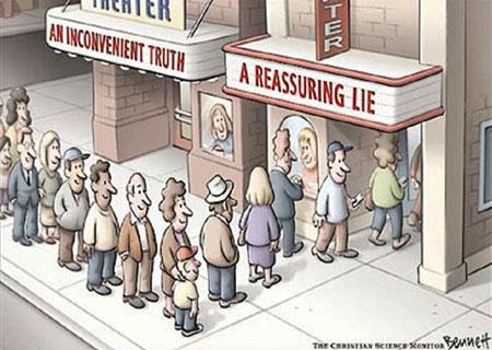 reassuring lie